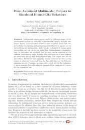 From Annotated Multimodal Corpora to Simulated Human ... - Springer