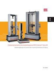 Elektromechanische Universalprüfsysteme MTS Criterion® Serie 40