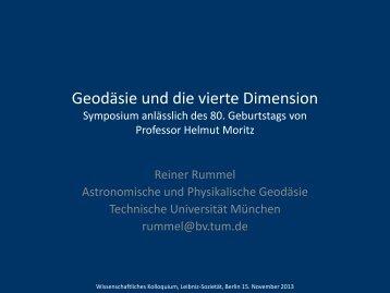 Geodäsie und die vierte Dimension Symposium anlässlich ... - DVW