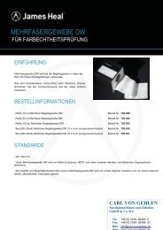 MEHRFASERGEWEBE DW - Carl von Gehlen Gmbh & Co. KG
