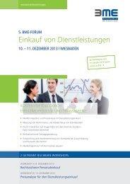 Flyer Veranstaltung - BME