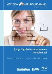 KfW/ZEW Gründungspanel 2013, technischer Anhang - Zentrum für ...