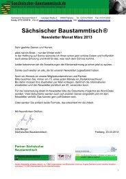 Newsletter März 2013 (*.pdf) - Sächsischer Baustammtisch