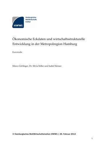 Ökonomische Eckdaten und wirtschaftsstrukturelle ... - HWWI
