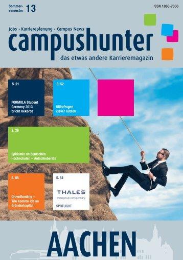 ISSN 1866-7066 Sommer- semester 13 Killerfragen ... - Campushunter