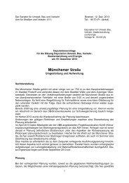 Münchener Straße - Der Senator für Umwelt, Bau und Verkehr