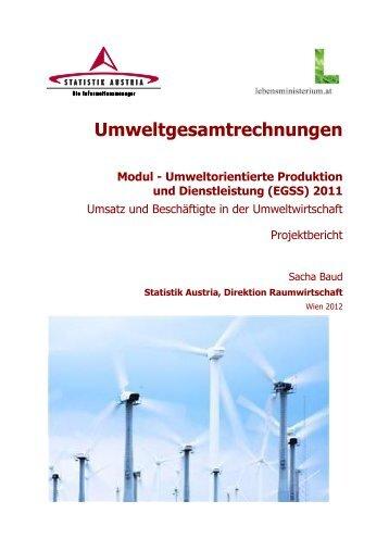 Umweltorientierte Produktion und Dienstleistung ... - derStandard.at