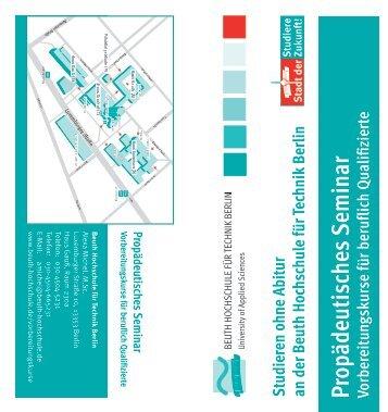 Flyer - Beuth Hochschule für Technik Berlin