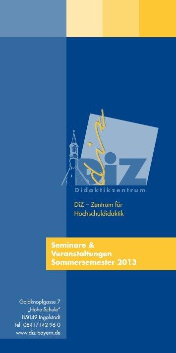 Seminare & Veranstaltungen Sommersemester 2013 - DiZ