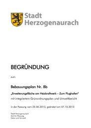 BEGRÜNDUNG - Stadt Herzogenaurach