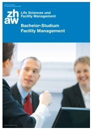 Bachelor-Studium Facility Management - IFMA Schweiz