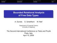 Bounded Relational Analysis of Free Data Types