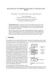 Konstruktion von UMP-Transduktoren aus Wizard-of-Oz Daten