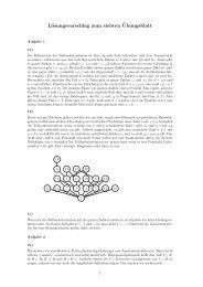 Lösungsvorschlag zum siebten¨Ubungsblatt
