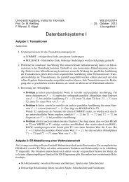 Übungsblatt 1 - Institut für Informatik - Universität Augsburg