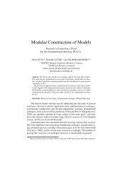 Modular Construction of Models - FB3 - Uni Bremen