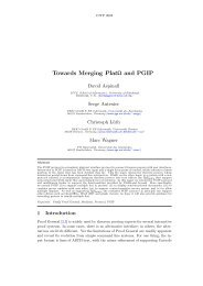 Towards Merging PlatΩ and PGIP - FB3 - Uni Bremen - Universität ...