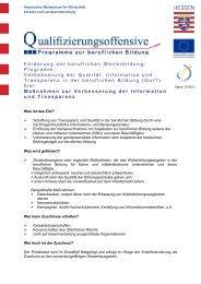 Maßnahmen zur Verbesserung der Information und Transparenz