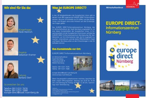 Flyer des EUROPE DIRECT-Informationszentrums ... - Stadt Nürnberg