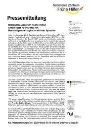 Pressemeldung Fruehe Hilfe und NEST (pdf / 321 KB) - Nationales ...