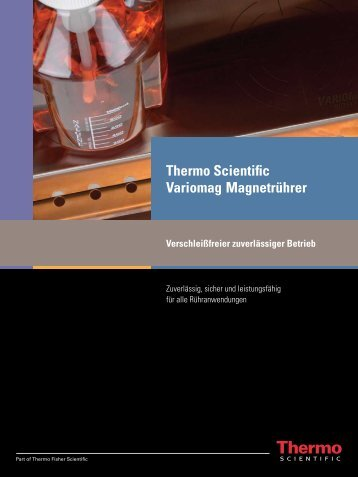 Thermo Scientific Variomag Magnetrührer - Fisher UK Extranet