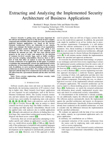 Extracting and Analyzing the Implemented Security Architecture of ...