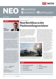 Newsletter Emmerich–Oberhausen