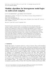 Math. Struct. in Comp. Science (2011), vol. 21 - FB3 - Uni Bremen