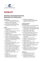 INFOBLATT - Bundesamt für Strahlenschutz