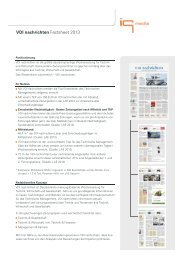 VDI nachrichten Factsheet 2013 - IQ media marketing