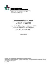 Landskapsarkitektur och virtuellt byggande - Epsilon Archive for ...