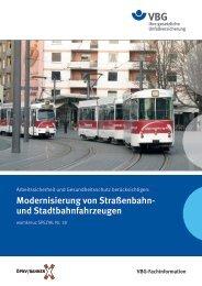 Modernisierung von Straßenbahn- und Stadtbahnfahrzeugen - VBG