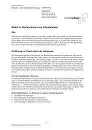 Modul 4: Recherchieren - Kanton Schwyz