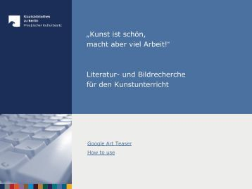 Fachteil 5: Kunst - Staatsbibliothek zu Berlin