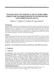 INTEGRATION VON PERSONAL HEALTH RECORDS (PHR) IN DIE ...