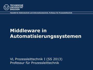 Middleware in Automatisierungssystemen - Fakultät Elektrotechnik ...
