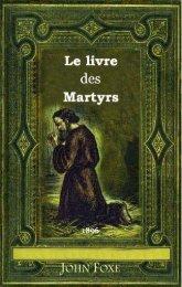 Le livre des Martyres