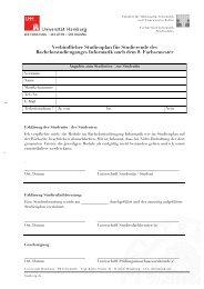 Studienplan - Fachbereich Informatik - Universität Hamburg