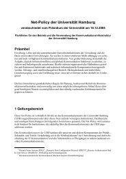 Net-Policy der Universität Hamburg - Fachbereich Informatik ...