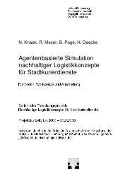Agentenbasierte Simulation nachhaltiger Logistikkonzepte für ...