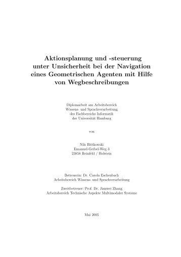 Online verfügbar. - Fachbereich Informatik - Universität Hamburg