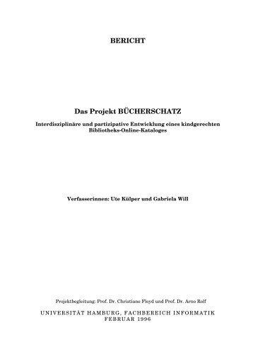 Das Projekt BÜCHERSCHATZ - Fachbereich Informatik - Universität ...