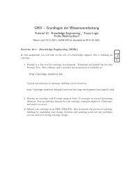 GWV – Grundlagen der Wissensverarbeitung