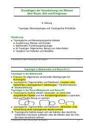 (Punktmengen-) Topologie und Mereotopologie