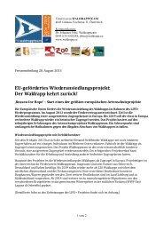 2013 08 28 Pressemitteilung FV Waldrappteam_BGH-1 - Bund ...