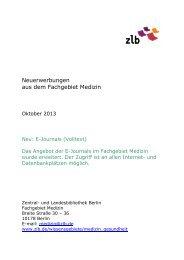 Zentral- und Landesbibliothek Berlin Öffnungszeiten: