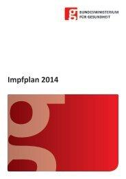 Impfplan 2014 (PDF) - Bundesministerium für Gesundheit