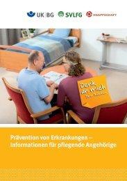 Prävention von Erkrankungen - Info für pflegende Angehörige