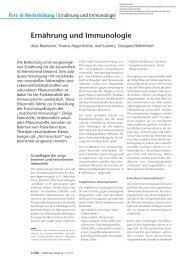 Ernährung und Immunologie