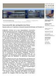 05.08.2013: Forum nimmt HIV, Aids und Hepatitis in den Fokus ...